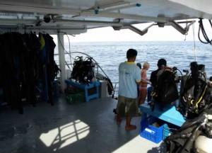 MV Oktavia - Diving deck